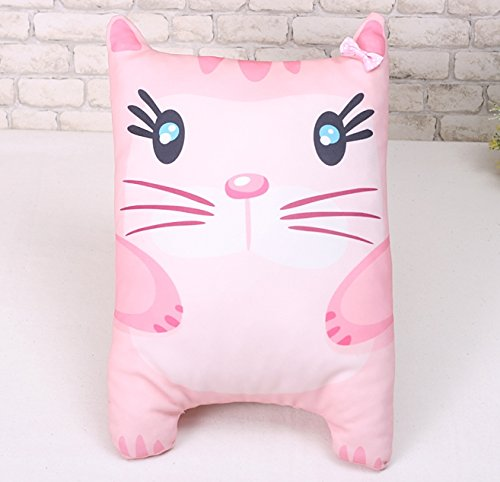 Korea Toy - Pink cat cushion pattern (front and the rear)