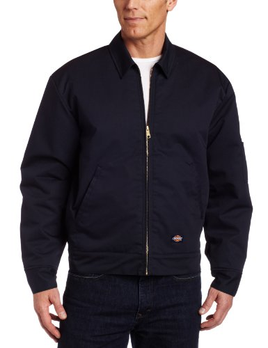 Dickies Men's Insulated Eisenhower Front-Zip Jacket,Dark navy,Large/Regular,Dark navy,Large/Regular
