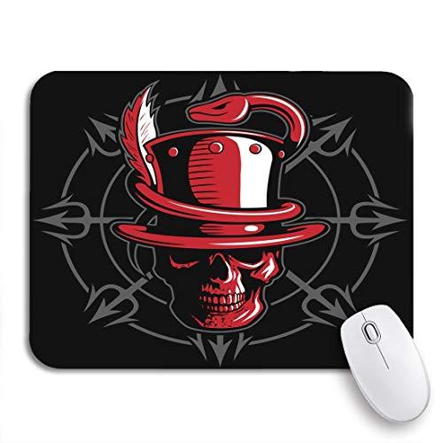 Gaming mouse pad roter schädel der zylinder hut schlange und dreizack rutschfeste gummi backing computer mousepad für notebooks maus matten