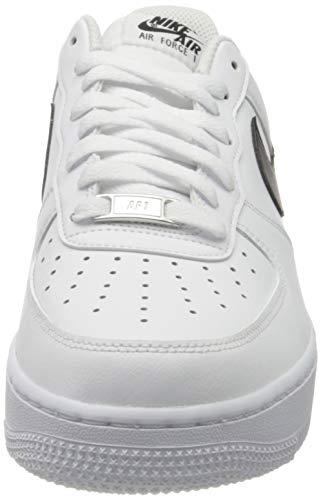 Nike Air Force 1 '07 An20, Zapatillas de bsquetbol Hombre, White Black, 42.5 EU