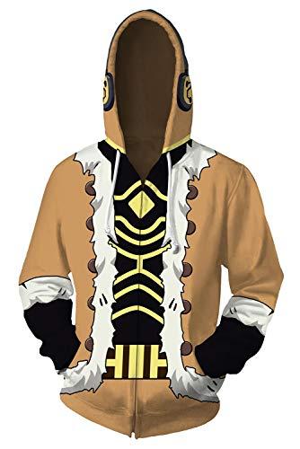 Hawks Cosplay Hoodie Jacket Sweatshirt Anime Red Wings Pullover Shirt Coat Halloween Costume Unisex (Large, Zip Up)