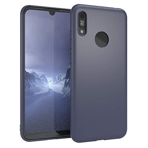 EAZY CASE Handyhülle Silikon mit Kameraschutz kompatibel mit Huawei Y6s (2019) / Honor 8A in Navy Blau, Ultra dünn, Slimcover, Silikonhülle, Hülle, Softcase, Backcover