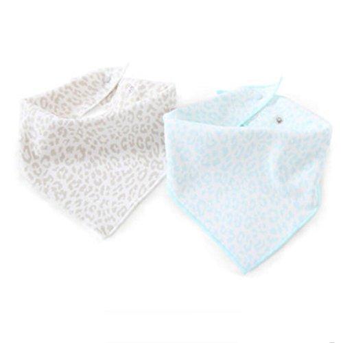 MXJ61 Triangle Serviette Coton Nouveau-Né Bavoirs Four Seasons Mâle Et Femelle Bébé 2 Pcs/Set (Couleur : Bleu, Taille : 2 Set)