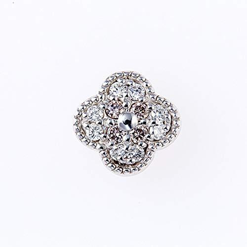 ピンクダイヤモンドペンダントヘッド 計0.05ctUP & ダイヤモンド計0.09ctUP [18KWG] フラワー 専用ケース付