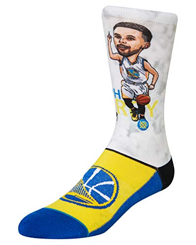 Stance Curry Big Head - Calcetines para hombre, Hombre, Calcetines, M548A19CUR, azul, large