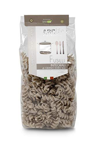 Carioni Food & Health Pasta Integral fusilli de sémola de Trigo Duro ecológica - 500 gr (Paquete de 12 Piezas)