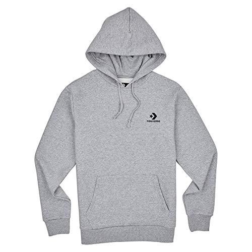 Converse Sweater Herren Star Chevron Embroidered 10008814 Grau 035, Größe:M