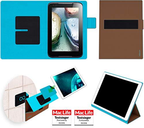 Hülle für Lenovo IdeaTab A1000 Tasche Cover Case Bumper | in Braun | Testsieger