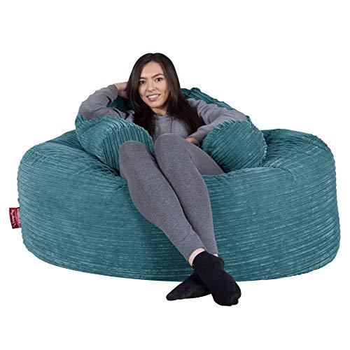 Lounge Pug®, \'Mammoth\' Sofa Sitzsack XXL, Riesen Sessle, Cord Türkis
