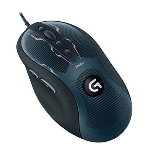 Logitech G400s Maus USB Optisch 4000 DPI rechts - Mäuse (rechts, Optisch, USB, 4000 DPI, Schwarz, Blau)