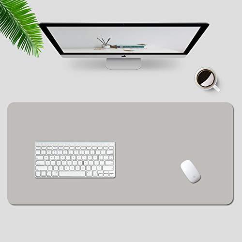 Erweiterte Schreibtischunterlage,Wasserdichte PU Leder Schreibtisch Pad Protector,Große Gaming Maus Pad,Multifunktionale Laptop Schreibtisch Schreibtisch Für Office Startseite Hellgrau 90x45cm
