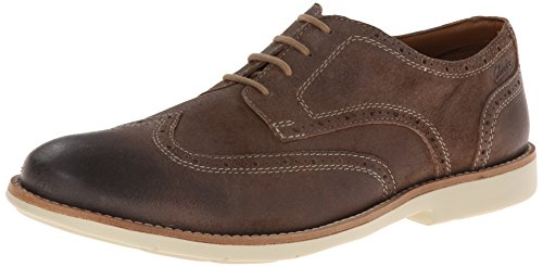 Clarks Men's Raspin Brogue, Taupe Suede, 7 M US