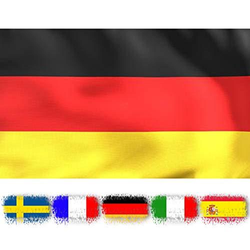 INFLATION DeutschlandFlagge,Wetterfeste Stoff 150 * 90cm Fahnen mit Messing,Fanartikel/Bundesflagge/Innen-Außendekoration für Sportveranstaltungen