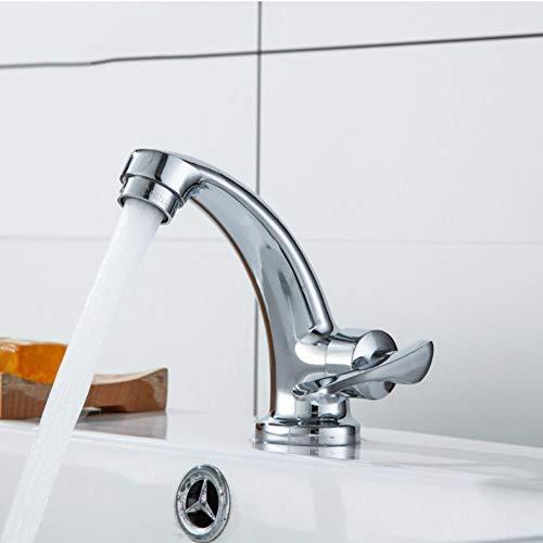 Badkuip Kraan Zink Legering Kraan Sink Mixer Tap Vanity Koud Water Badkamer Kraan Enkele Koude Enkele Handvat Tap