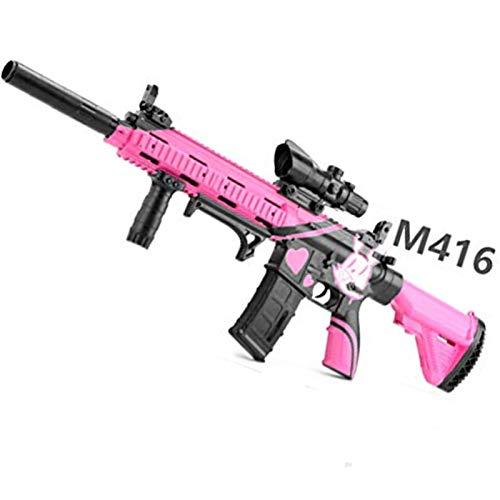 AFF M416 Pistola de Balas de Agua Juguetes al Aire Libre para niños Rifle de plástico Juegos de Paintball Suave Pistolas de Juguete para niños al Aire Libre,Rosado