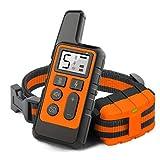 Entrenamiento en casa collar entrenamiento para perros collar de ladridos, Collar adiestramiento perros con control remoto recargable para principiantes, Con función impermeable/distancia 500 yardas