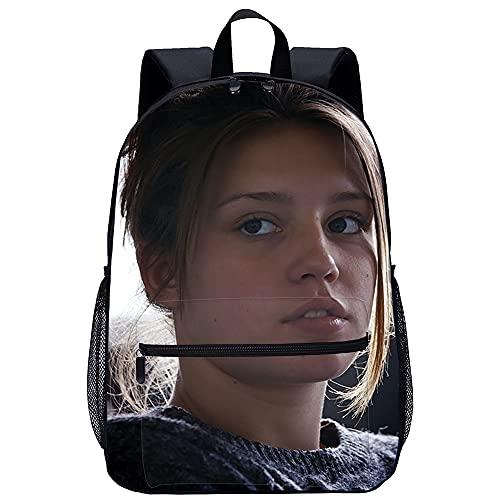 DJHYT 3D Gedruckter Rucksack Blau Ist Die Wärmste Farbe Gedruckter Rucksack Schulrucksack Reiserucksack Junge Mädchen Laptoptasche 17 Zoll