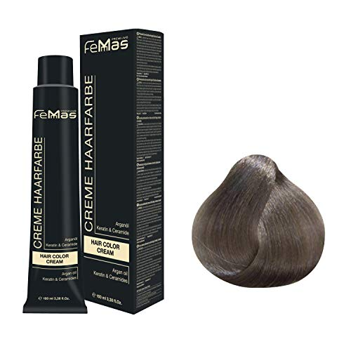Femmas Hair Color Cream 100ml Haarfarbe (Metallic Grau)