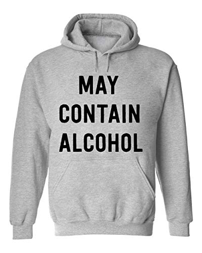 George Graphics May Contain Alcohol Unisex trui met capuchon