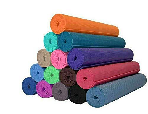 Tappetino yoga 4 MM 173X61 Vari Colori Fitness Sport Palestra Aerobica Pilates Ginnastica MATERASSINO STUOIA Antiscivolo (Verde Acqua)