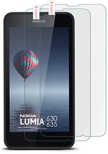 MoEx 2X 9H Panzerfolie für Nokia Lumia 630 Panzerglas Display Glasfolie [Tempered Glass] Screen Protector Glas Displayschutz-Folie für Nokia Lumia 630/635 Schutzfolie