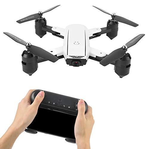 Qinlorgon RC Drone, 500W (1080P) Pixel HD Telecamera grandangolare Pieghevole RC Drone Quadcopter(Bianca)