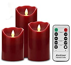 antizer best fake flameless candles