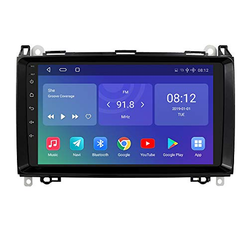 Doble DIN Android 10 Radio de navegación GPS para Coche 9 Pulgadas...