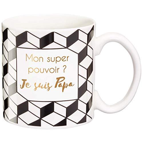 LA CARTERIE Taza de Regalo con Mensaje en francés Mon Super pouvoir? Je Suis Papa -