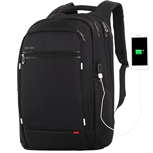OUTJOY Laptop Backpack for Men Women,Travel Backpack Large Waterproof School Backpack Anti Theft 17.3 inch Laptops Backpack with USB Charging Port,Work Business Backpack Computer Bag TSA Friendly