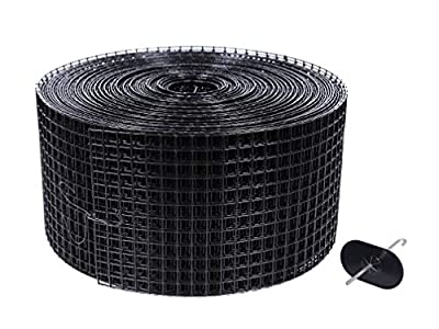 6in X 100ft Solar Panel Bird/Critter Guard Roll Kit | 60 Fastener Clips | Used for Bird/Critter proofing Solar Panels | Removable Without Damage