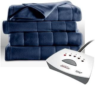 Sunbeam Fleece Heated Blanket - Twin Blue