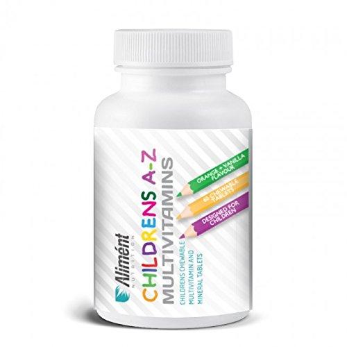 Aliment Nutrition   Childrens A-Z Multivitamins   60 Chewable Tablets   Vanilla & Orange Flavour