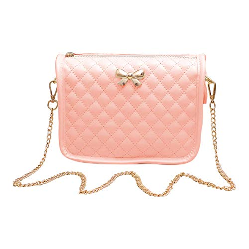 Hanbella Pink Crossbody Bags for Women and Girls - Cute PU Soft Leather Handbags Satchels For Teen Girls - Mini Shoulder Purses for Ladies
