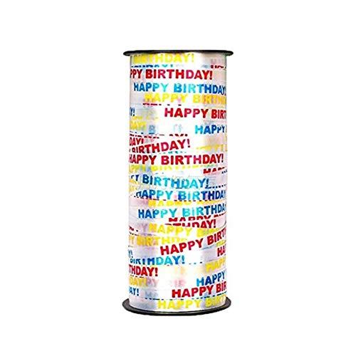 MUZIWENJU Curling-Band-Rolle gekräuselte Ballon-Band-Party und -Urlaub Happy Birthday Decoration Crafts Geschenkverpackung (Farbe : Happy Birthday)