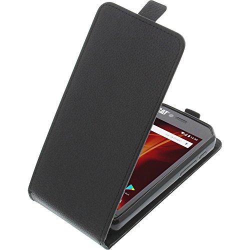foto-kontor Tasche für CAT S41 Smartphone Flipstyle Schutz Hülle schwarz