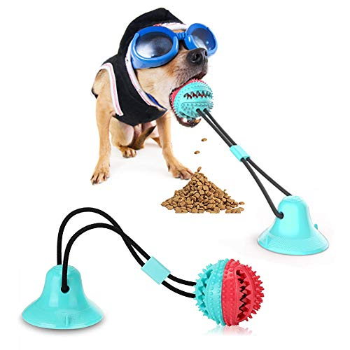 N&N Dog Chew Toy - Dog Puzzle Treat Food Dispensing Ball Toys - Fixed Chew Toys for Aggressive Chewers - Chew Toys for Puppies and Large Dogs - Teeth Cleaning Toy for Dogs.
