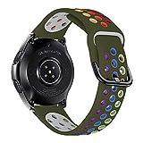 iBazal Correa Galaxy Watch 46mm Pulsera 22mm de Repuesto para Samsung Galaxy Watch 3 45mm/Gear S3 Frontier Classic, Huawei Watch GT/GT 2 46 mm, Ticwatch Pro/E2/C2 Banda de Silicona- Arco Iris Verde