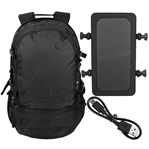 Outdoor Sports Hiking Backpack, Nylon Hiking Camping Bag Power Charging Backpack Shoulder Bag with USB Port for Outdoor Sport Travel