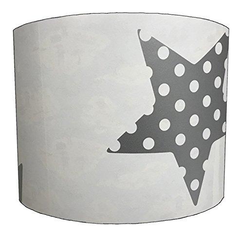 DELPH DESIGN LIGHTING LTD 25,4cm Superstar Silver Childrens lampshade for A Table Lamp