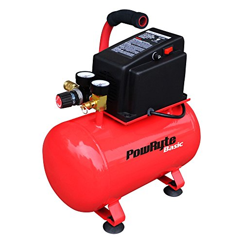 PowRyte 3 Gallon Oil-Free Hotdog Portable Air Compressor -100 PSI