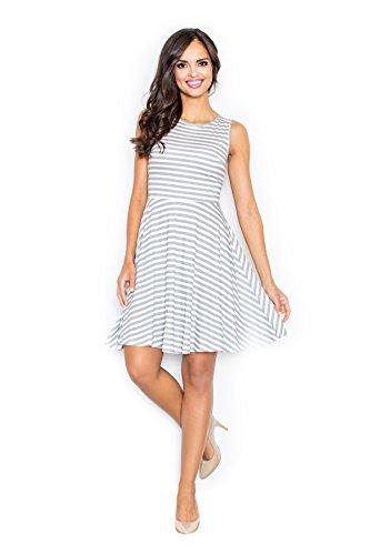 Figl Kleid grau/weiß L
