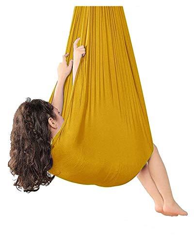 SHUHANG Sensorial Interior Columpio Terapia Columpio Aéreo Hamaca de Yoga Elástica para Niños o Adultos (Color : H, Size : 700x280cm)