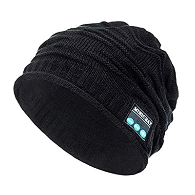 Wireless Bluetooth Beanie,Unisex Outdoor Sport Knit Hat with Stereo Speakers & Microphone by