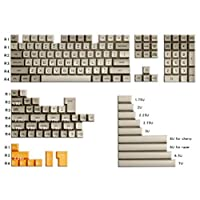 108キーメカニカルキーボード 159キーのフルセットSAプロフィールABSグレー白い黄色いキーボードのためのカスタマイズされた機械的キーボードのための黄色いキーキャップ