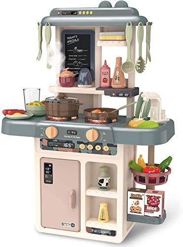 Kacsoo Cocina Comida Juguete Cacharritos Cocina Juguete Cocinita Mi Pequeño Chef con Características De Sonidos con Luces y Sonidos Realistas Los Mejores Niños
