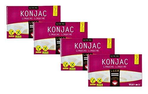 WokFoods Konjac Japonés Linguini Comida clásica Sin Gluten / Mezcla de comida con la clásica Comida japonesa de harina de Konjac - 4 x 200 gramos