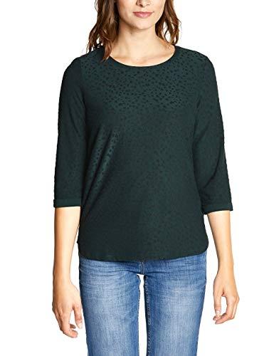 CECIL Damen 313766 T-Shirt, Mehrfarbig (slate green 21687), X-Large (Herstellergröße:XL)