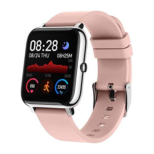 Montre Connectée Femmes Homme, Bozlun Montre Intelligente Etanche IP67, Smartwatch Sport GPS Cardio Fitness Tracker d'Activité Podometre Calories pour Android IOS (Rose)
