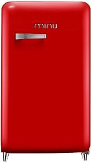 minij 小吉 BC-121RR带把手复古单门小冰箱(亚马逊自营商品, 由供应商配送)
